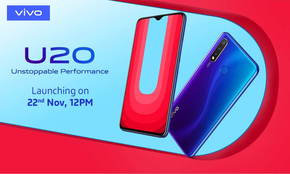 Photo of Vivo U20 With 5,000 mAh Battery Teased to Launch on November 22