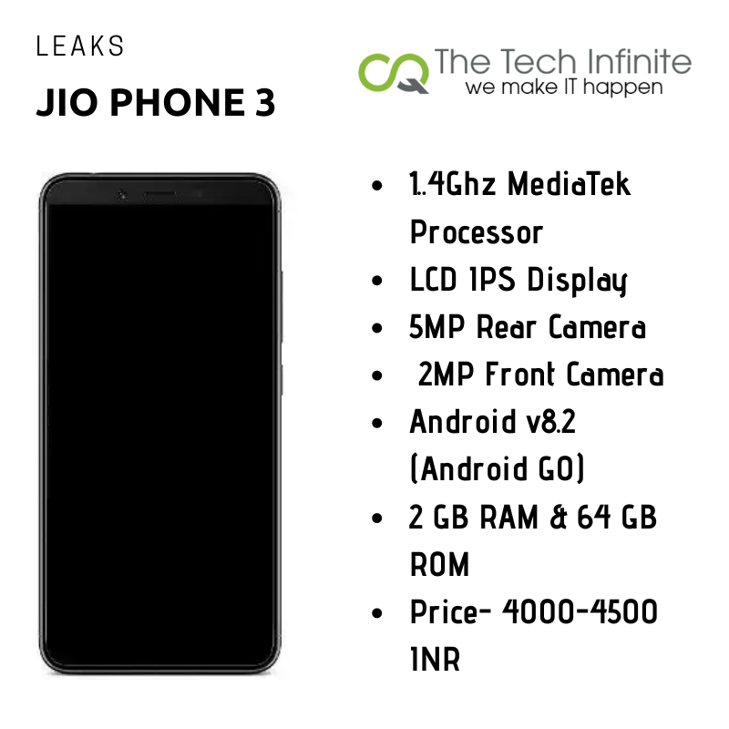 Photo of Jio Phone 3 Leaks; 2GB RAM, 5MP Camera