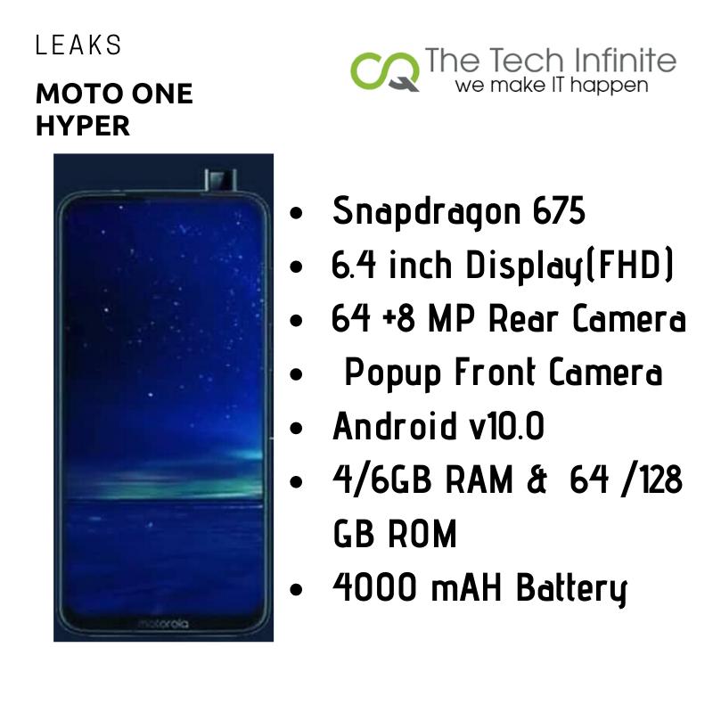 Motorola One Hyper - Leaks, Price & Launch