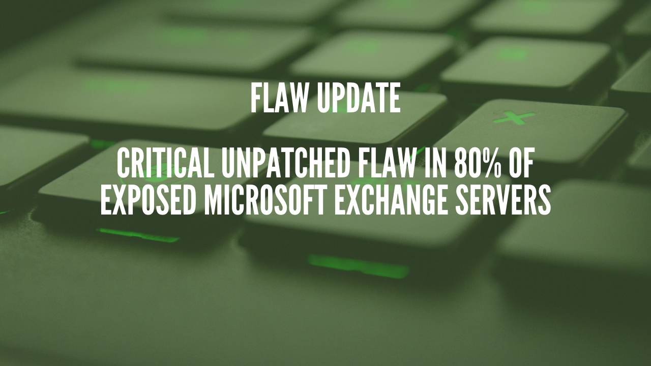 Photo of Critical unpatched flaw in 80% of Exposed Microsoft Exchange Servers