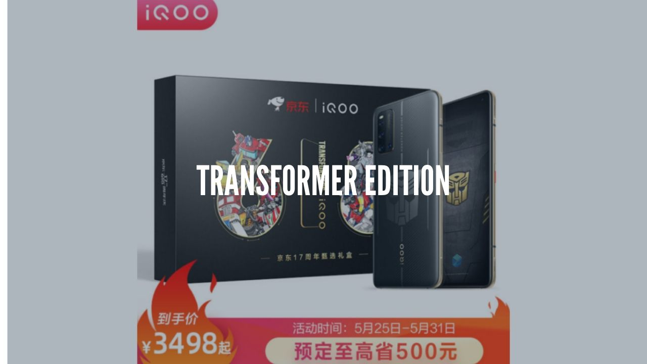 Photo of iQoo 3 Transformers Limited Edition Unveiled