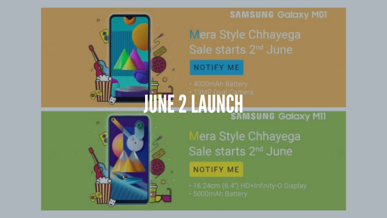 Photo of Samsung Galaxy M01 and Galaxy M11 to launch on June 2