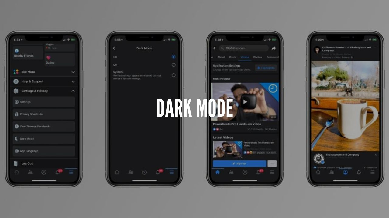 Facebook is introducing a dark mode for mobile users