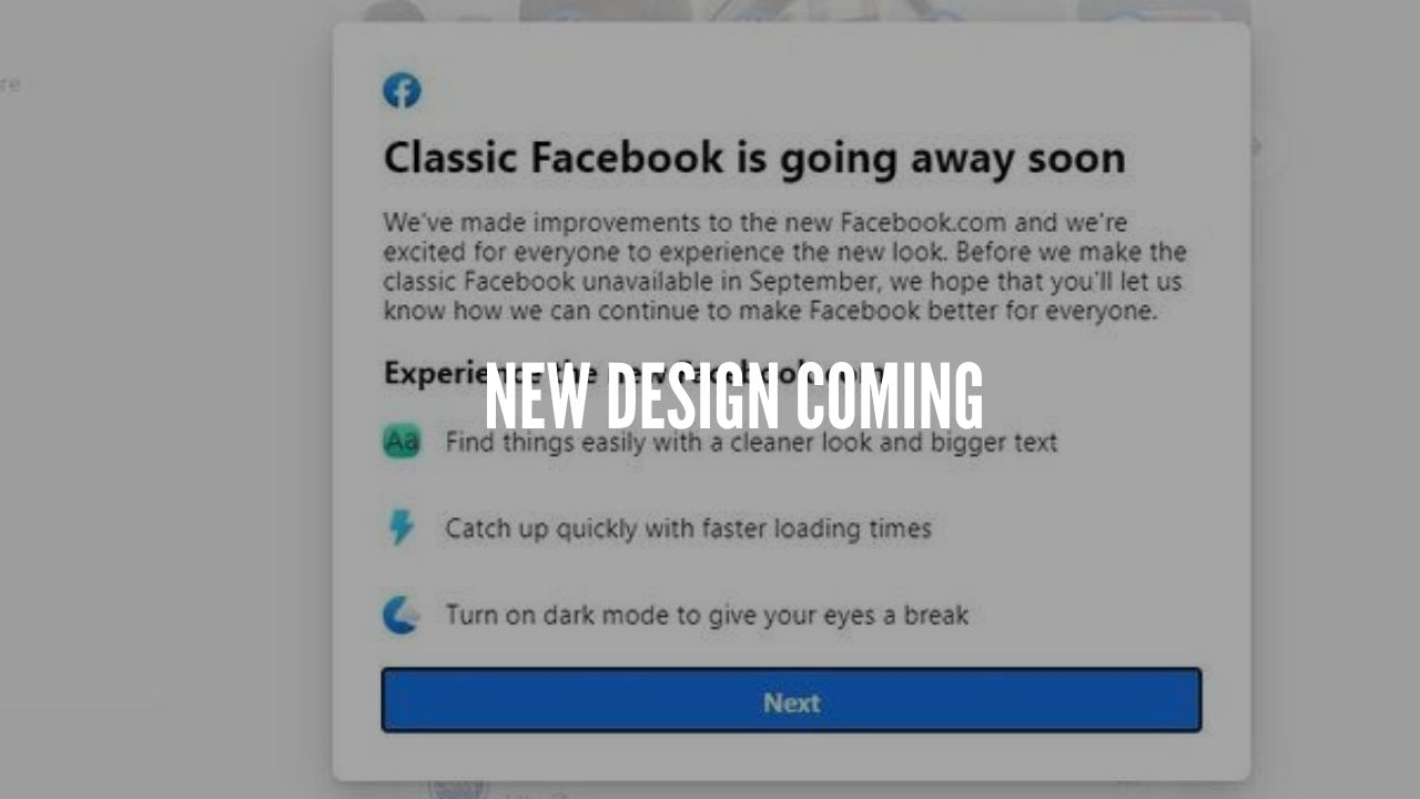 Photo of Old School Facebook Design To Disappear Forever From Web