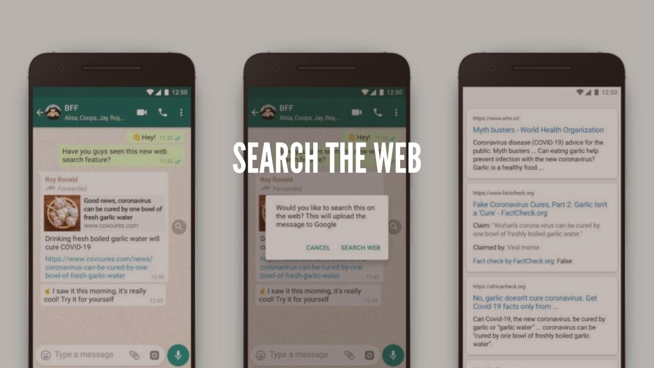 "Photo of Upcoming New ""Search The Web"" Feature in Whatsapp"