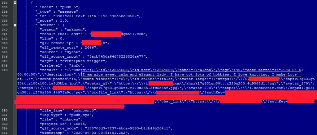 dating website data leak