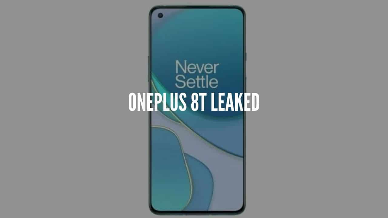 oneplus 8t leaked