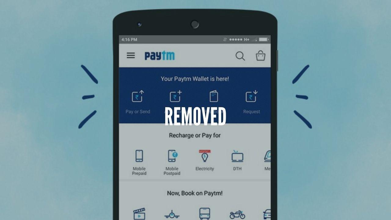 paytm removed