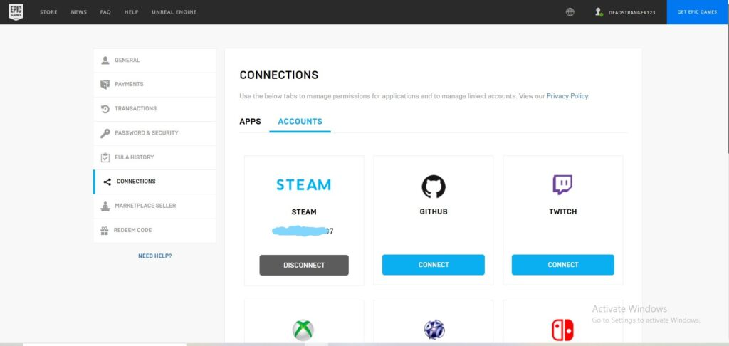 How to Connect Your Epic Games And Steam Accounts